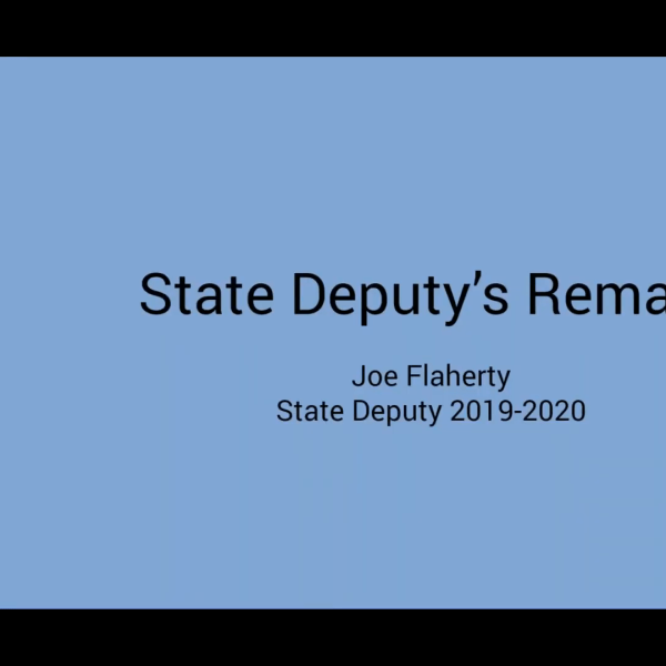State Deputy 2020 Organizational Meeting Remarks