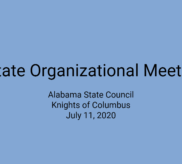 State Organizational Meeting – July 11, 2020