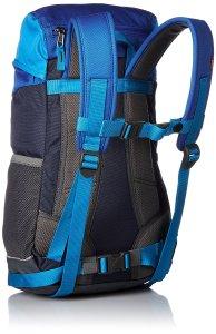 Blau-schwarzer Rucksack von hinten