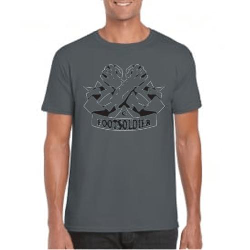 Carlton Leach Charcoal T-Shirt Centre