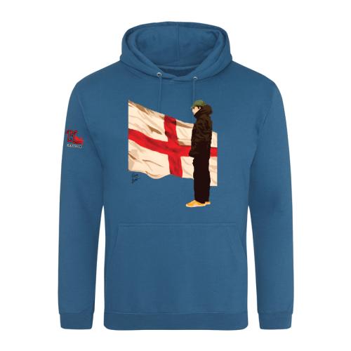 DaveyBrownArt Casual Culture England Hoodie