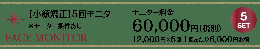 美容整骨[小顔矯正]5回モニター_60000円【東京・新宿・小顔矯正・骨盤矯正】WAXPERIENCE