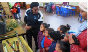 Shirley Mgoboza talked about the threats to fynbos through alien plants and human transformation of the landscape through urban sprawl, agriculture and mining.