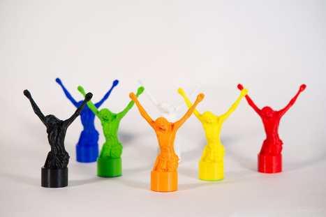 Marcin Góralski - Art Projekt 3d-print ..Jesus Hands Up...