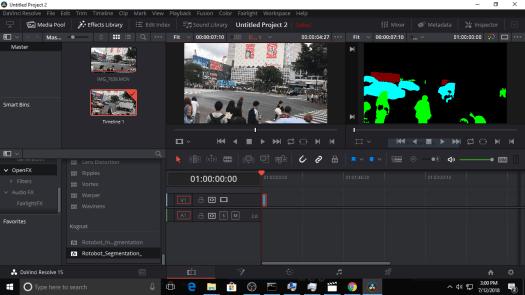 Screen shot of Resolve in Windows 10