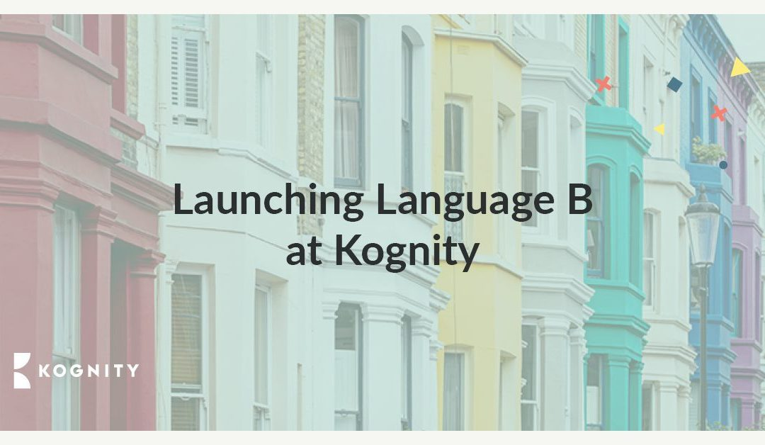 Launching Language B at Kognity