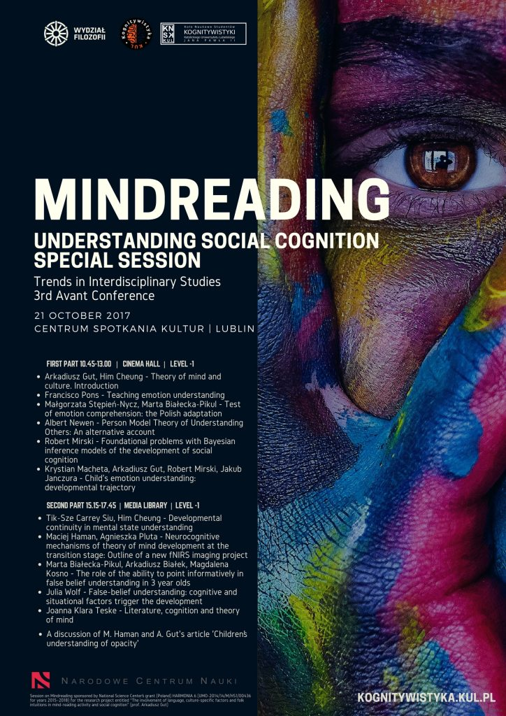 Special Session on Mindreading. Program