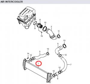 Genuine Turbo Intercooler 2371109060 Ssangyong ACTYON KYRON