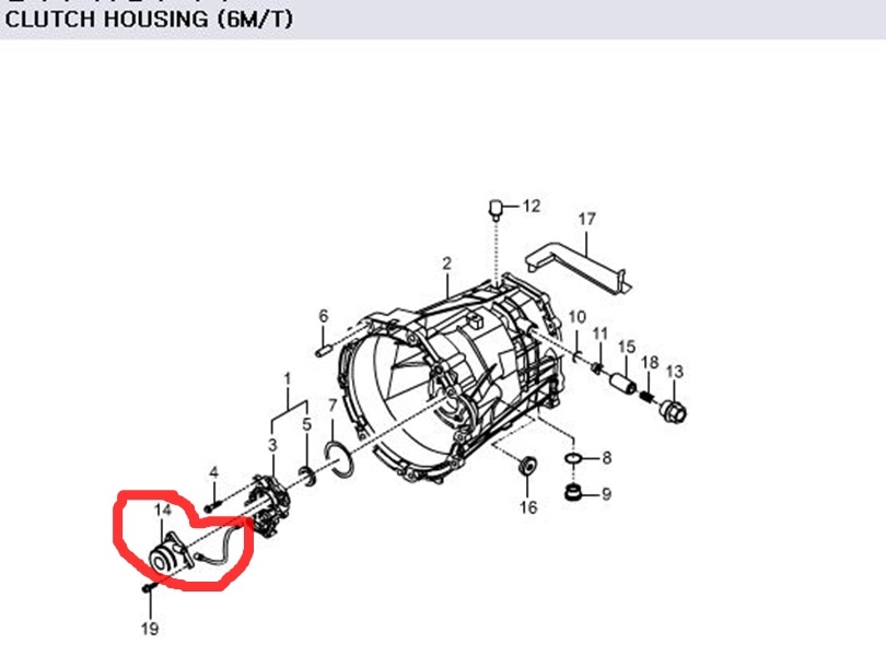 Genuine Concentric Slave Cylinder 3036032000 Ssangyong