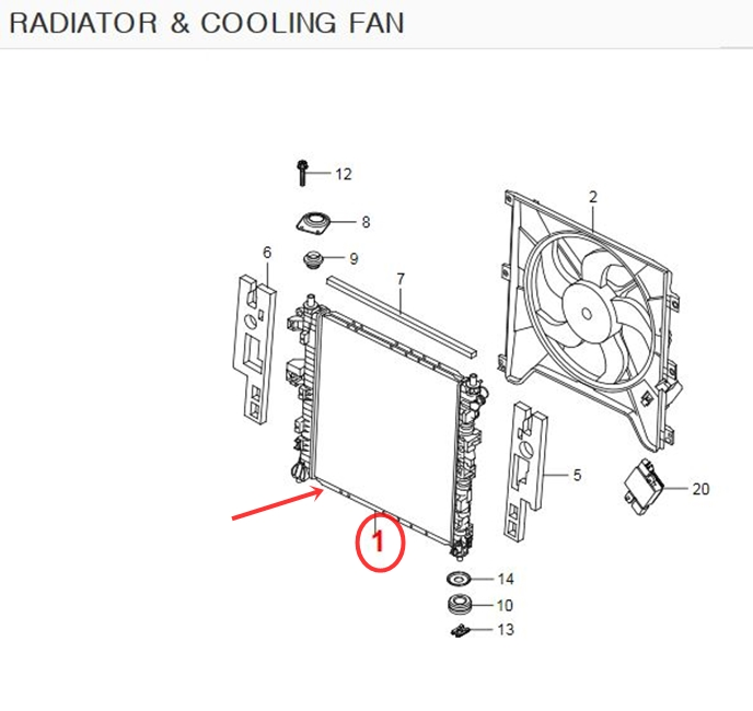 Genuine Cooling Radiator ACTYON,KYRON,ACTYON SPORTS +MT