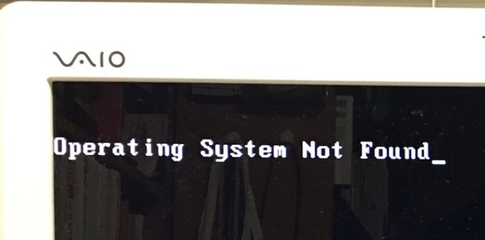 Oparating System Not Found