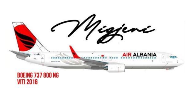 """Rama e prezantoi """"Migjenin"""", Boeing 737 do mbulojë fluturimet drejt Italisë (FOTO)"""
