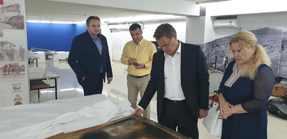 Sot  ministri i Kulturës  Hysni Ismaili  ishte në vizitë pune në Muzeun e Maqedonisë së Veriut