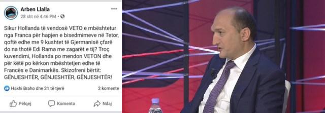 Llalla që me 28 shtator parashikoi se Franca do të vendos VETO!