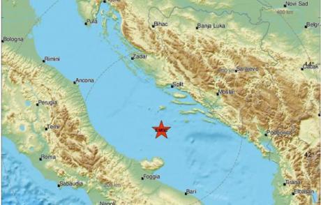 Tërmet i ri në detin Adriatik