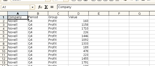 drill down data on new sheet