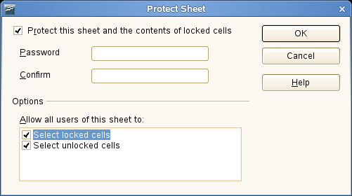sheet protection dialog screenshot