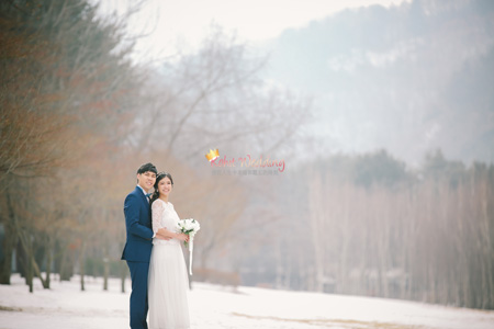 nami island pre wedding shoot