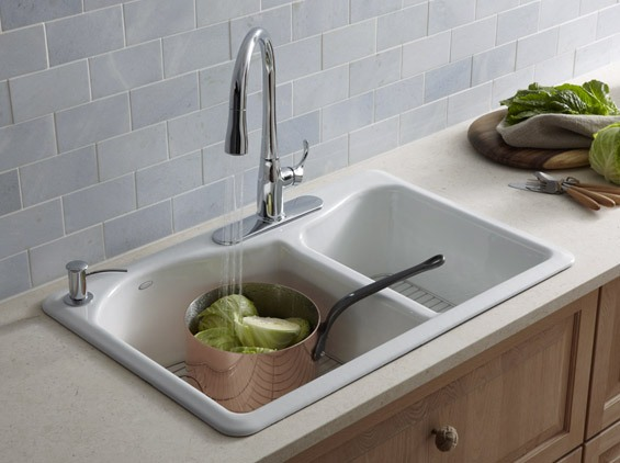 kitchen sinks and faucets bright lighting kohler canada lawnfield new r