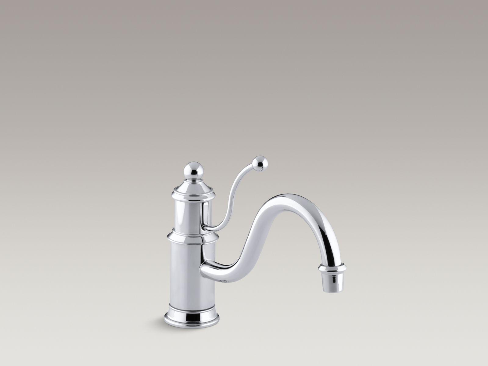 antique single handle kitchen sink