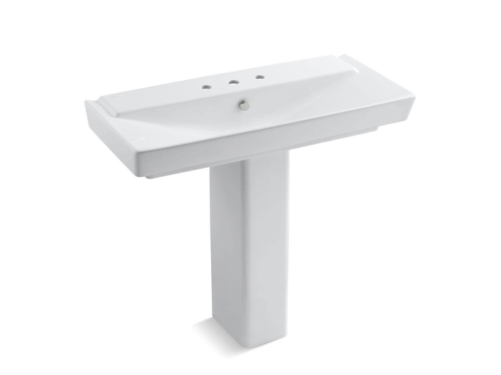 k 5149 8 reve 39 inch sink basin and pedestal with 8 inch centers kohler