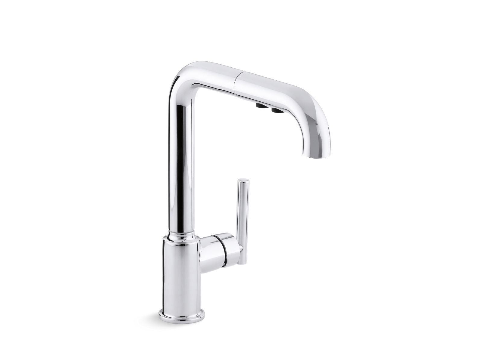 kohler purist kitchen faucet modern designs k 7505 single handle pull out spray sink bathroom and