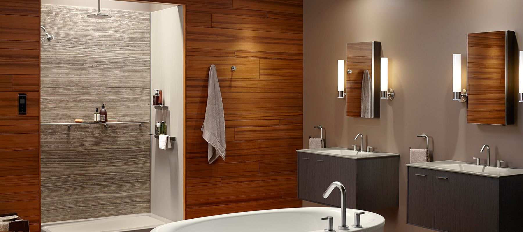 Bathroom Walls Ideas Shower Walls Showering Bathroom Kohler