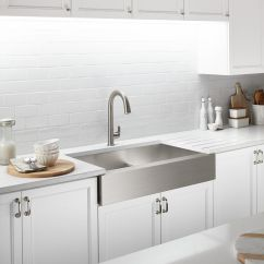 Sinks Kitchen Mid Range Cabinets Farmhouse Stainless Steel More Kohler Apron Front