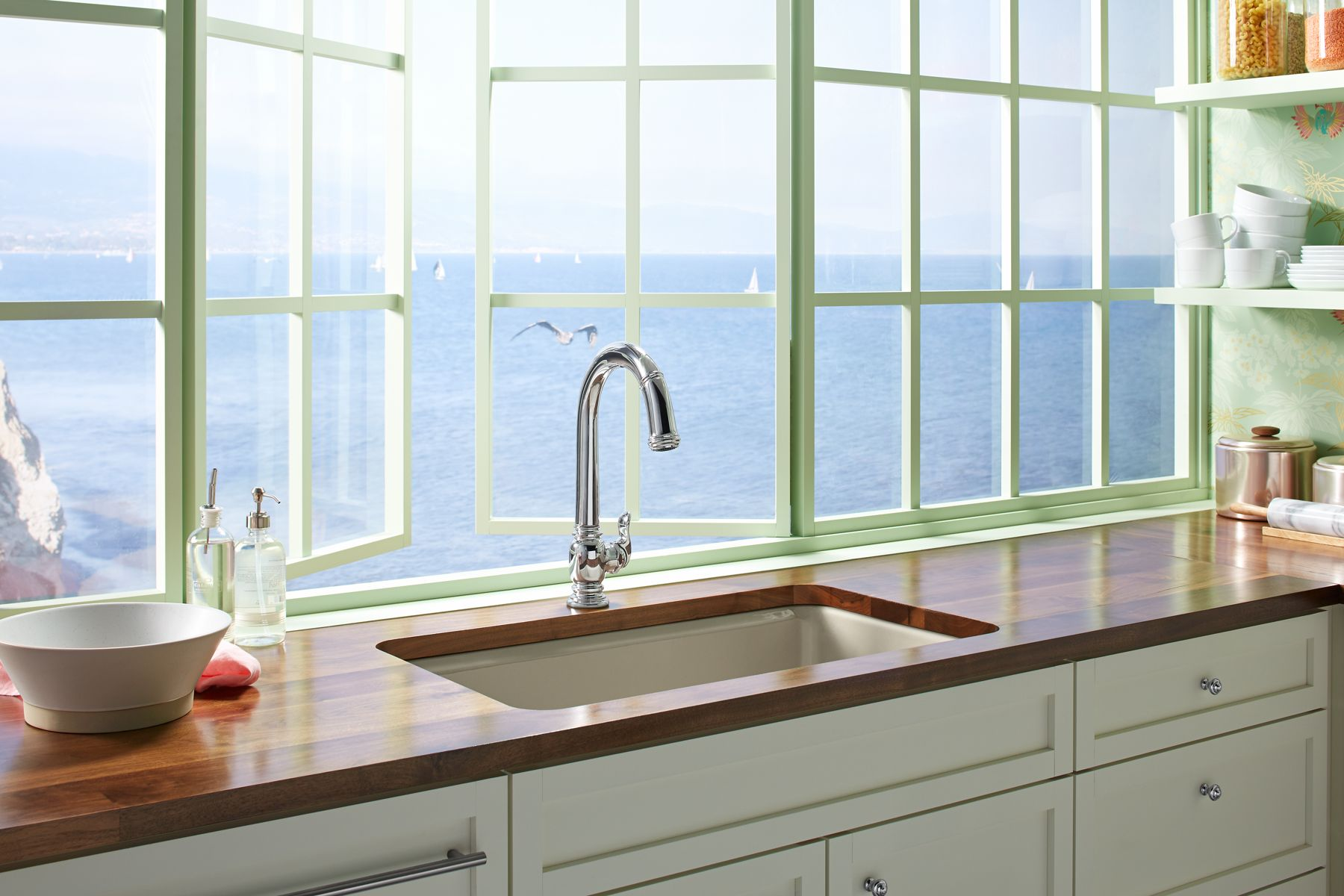 kitchen sinks buffet farmhouse stainless steel more kohler under mount