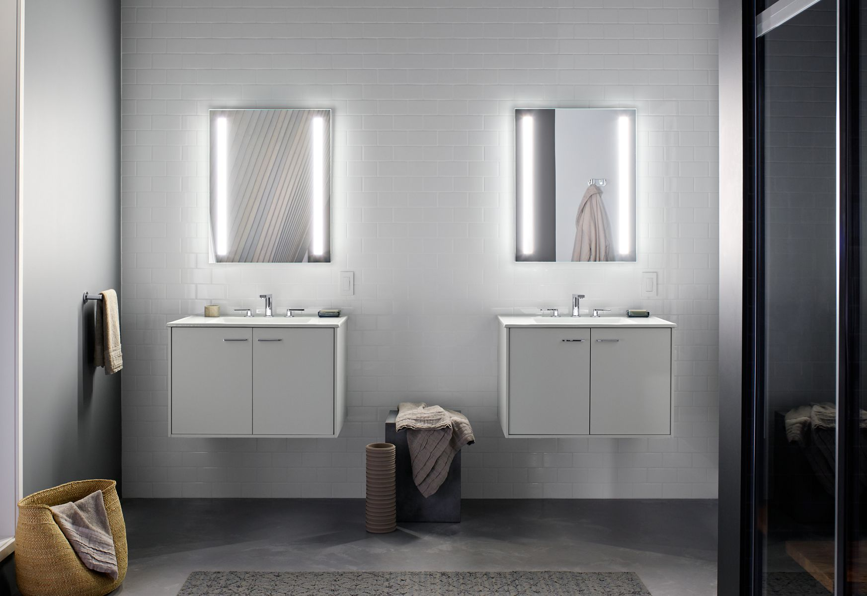Wall Cabinets For Bathrooms Mirrored Cabinets And Mirrors Guide Kohler