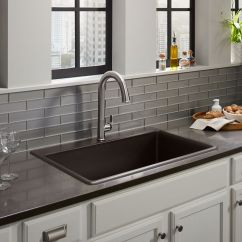 Colored Kitchen Sinks Tops Cabinets Pompano Farmhouse Stainless Steel More Kohler Top Mount
