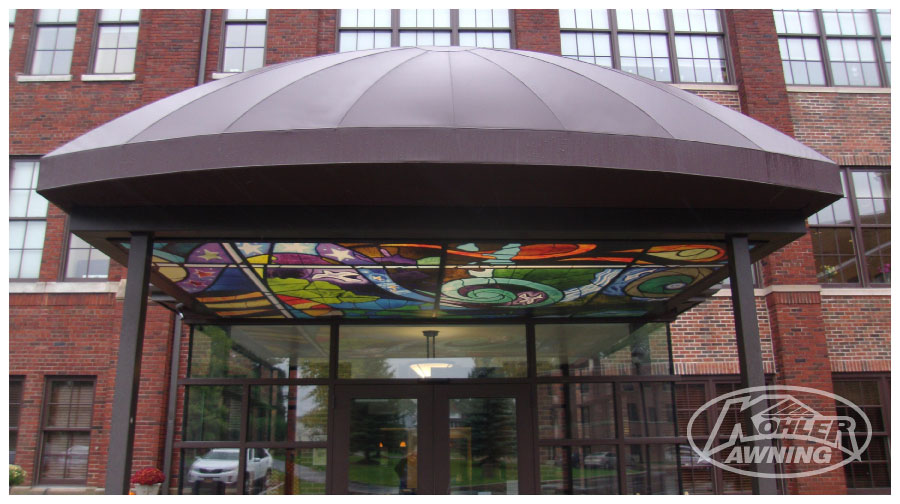 Commercial  Business Dome Awnings  Kohler Awning