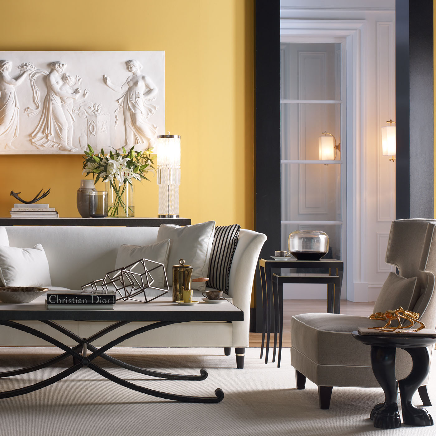 Sofas  Modern Living Room Furniture  Accessories  Baker Furniture