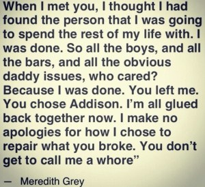 Favourite Quotes from Grey's Anatomy