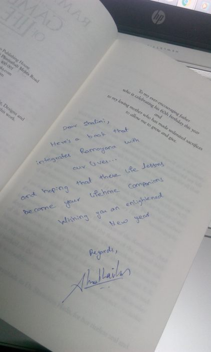Thanks, Shubha Vilas for the signed copy!!