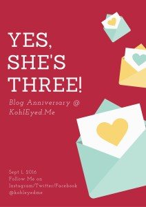 ….. and she's Three!! #BlogAnniversary