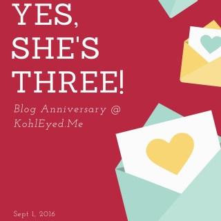 ….. and she's Three!! #BlogAnniversary