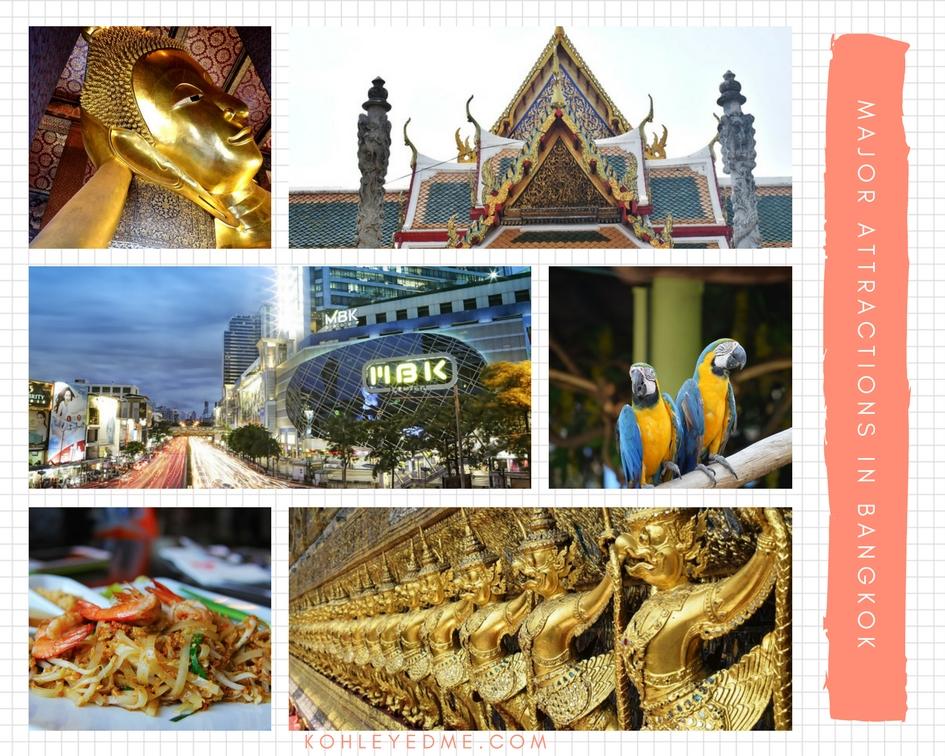 Major Attractions in bangkok