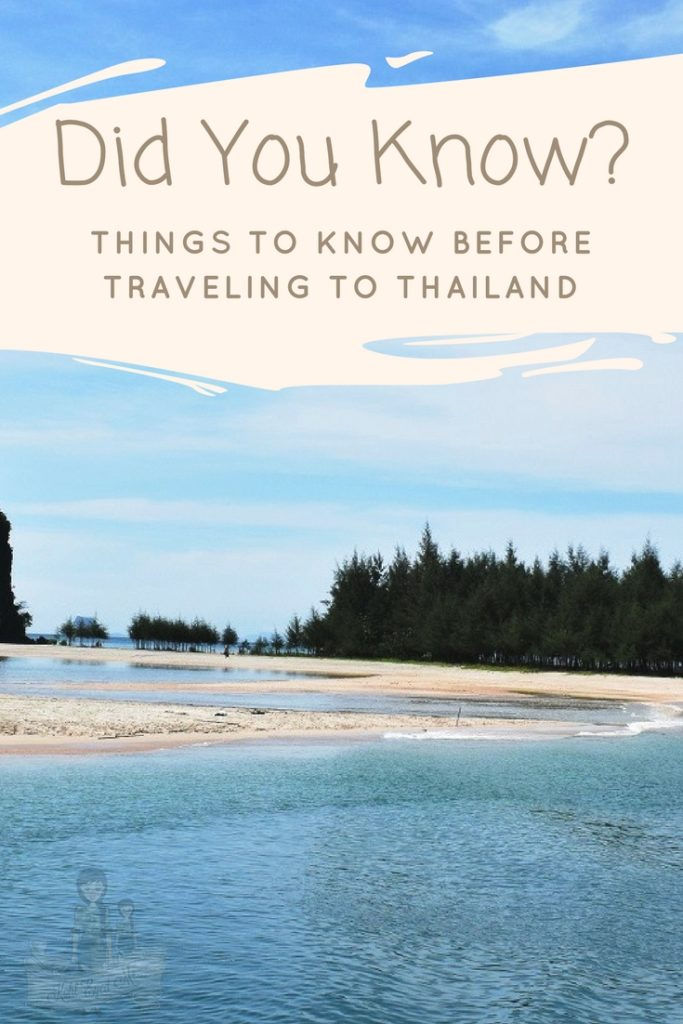 Things to know before traveling to thailand Pinterest Images
