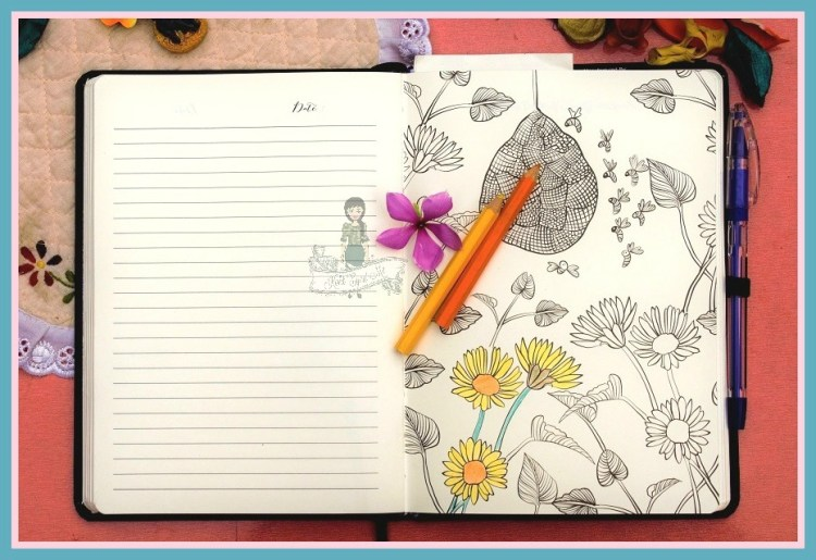 MatrikaS Creative Woman'd Journal Adult Coloring Pages