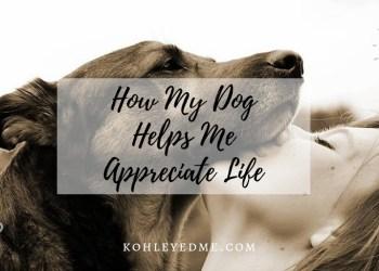 How my dog helps me appreciate life
