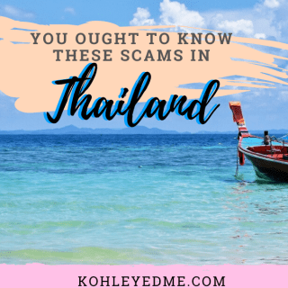 Know these scams in Thailand