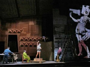 Setting of Lulu at the Metropolitan Opera, New York.