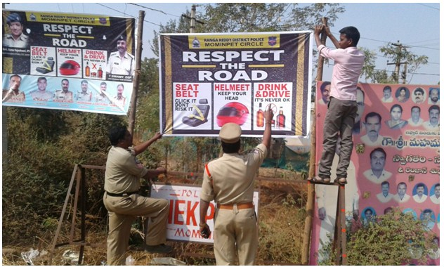 'Respect the Road' -- A 7-day Road Safety Campaign by Ranga Reddy district police in Telangana State.