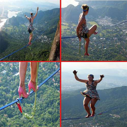 amazing! When the young woman shown horrific stunts
