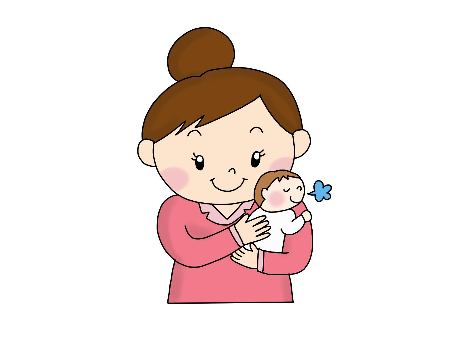 新生児のお腹の張りにはぐるぐるとママの手でマッサージ♪