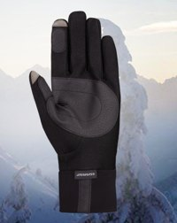 Seirus Innovation Ski and Snowboard Essentials including gloves hats clavas liners quicks face masks and more Wizard soundtouch™ hyperlite all weather™ glove snow sports detail