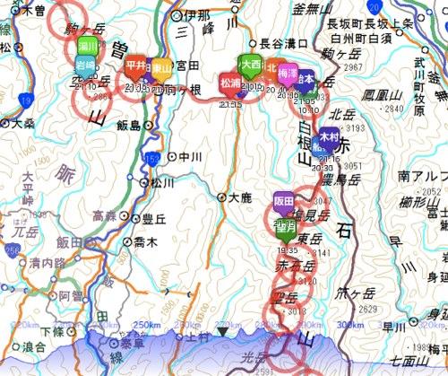 トランスジャパンアルプスレース 2012 GPSトラッキング | Trans Japan Alps Race 2012 GPS tracking