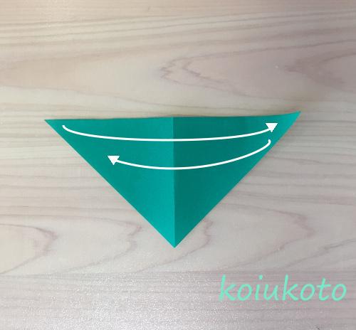 折り紙 笹の葉1