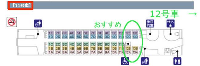 11号車座席表
